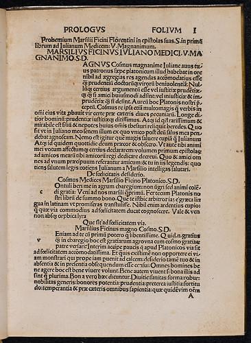 Ficinus, Marsilius: Epistolae - Ownership marks