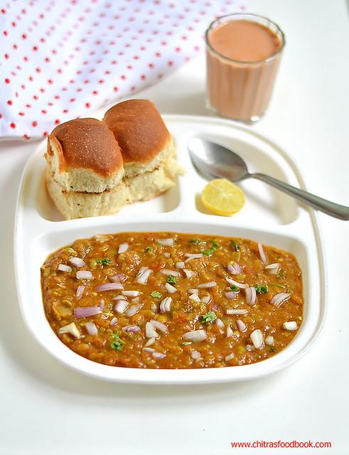 Pav bhaji recipe mumbai street food recipes chitras food book mumbai special pav bhaji recipe forumfinder Images