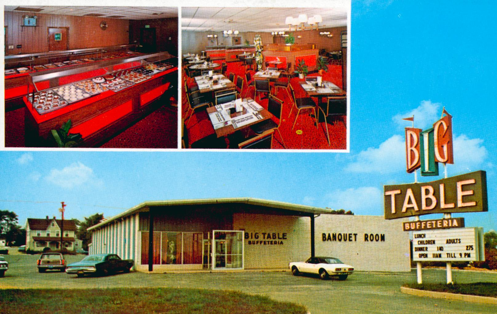 Big Table Buffeteria - 7600 Pulaski Highway, Baltimore, Maryland U.S.A. - 1960s