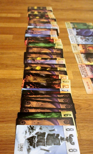 This long line of cards is all because of Cthulhu