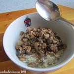 Pilz-Tempeh-Ragout auf Reis
