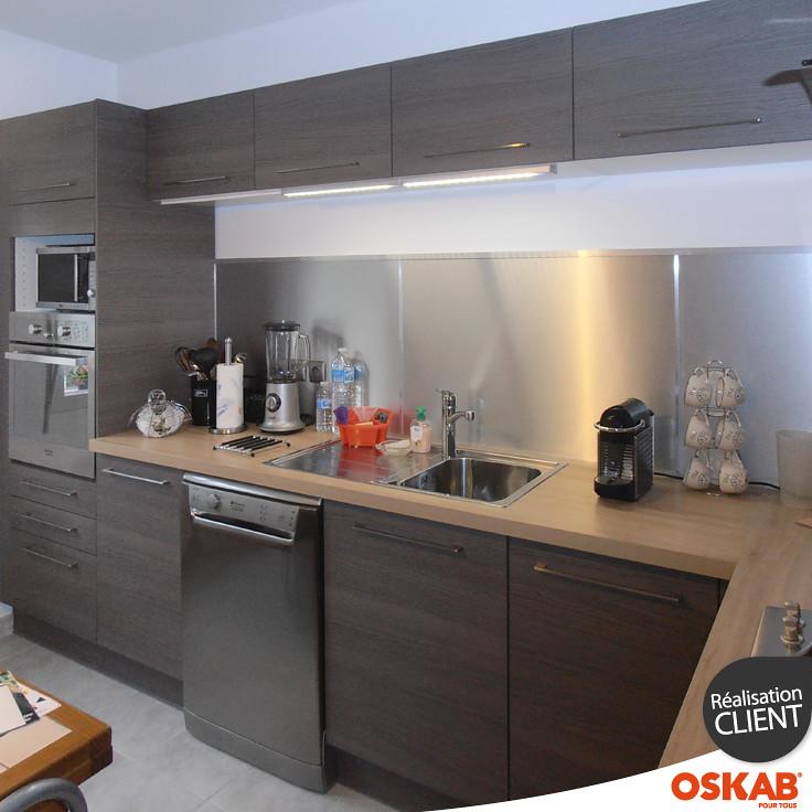 cuisine bois fonc au style design et chaleureux oskab flickr. Black Bedroom Furniture Sets. Home Design Ideas