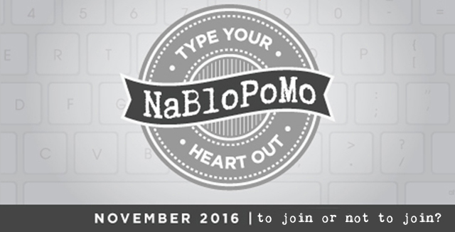 A Blog Post Month - to join or not to join? question asked by @ihanna on her blog, now vintage as it is 12 years old #NaBloPoMo #blogging