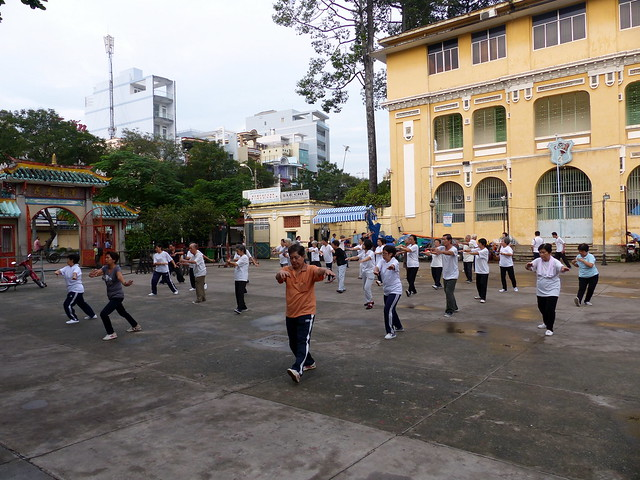Morning Practice at Er Fu Temple