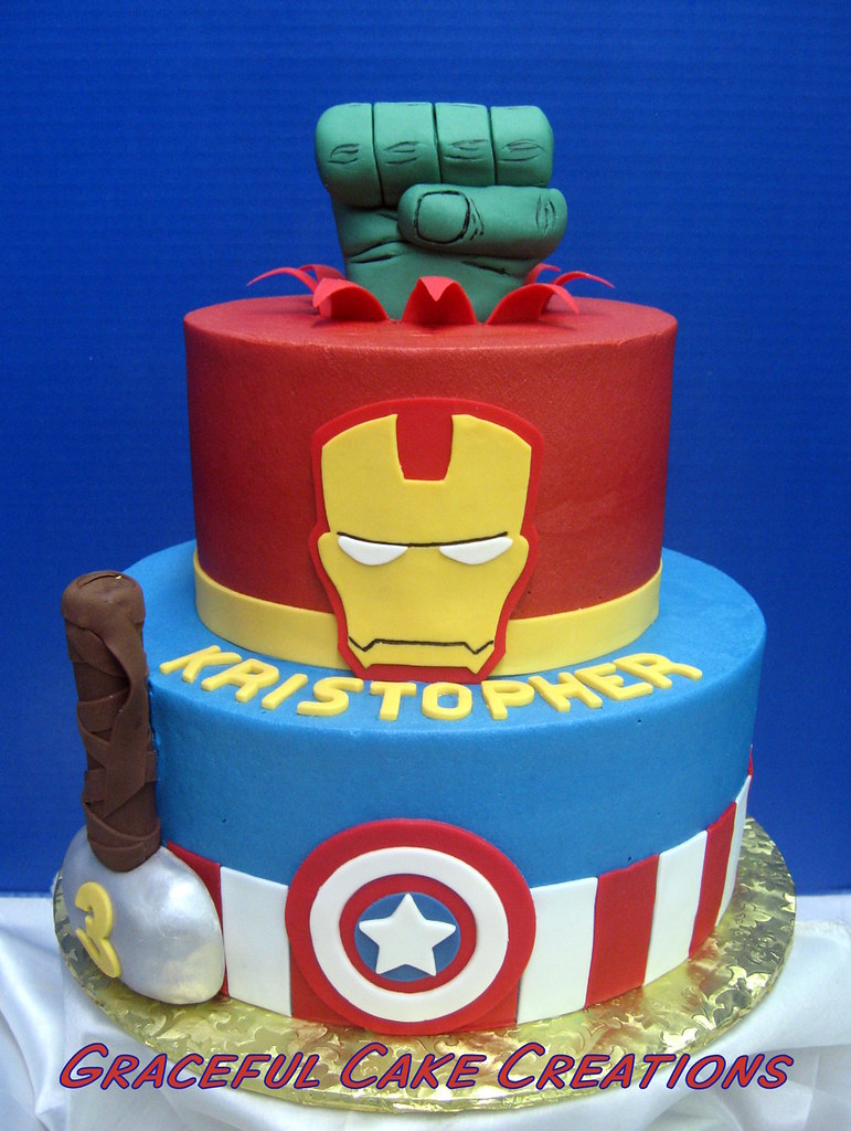 Lego Marvel Birthday Cake