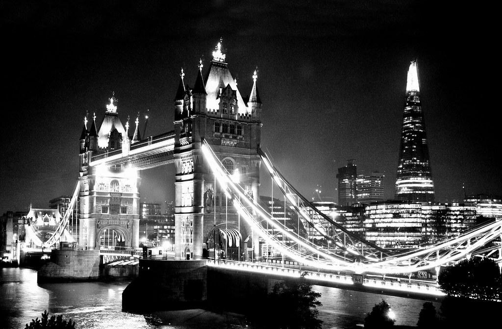 Tower Bridge At Night 2. Black & White. Nikon D300s. DSC_4 ...