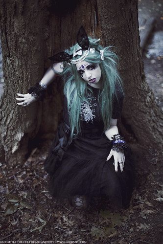 gothic fantasy bunny outfit