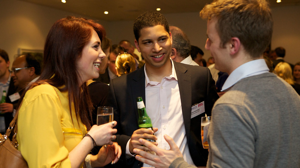 Attendees talking at the networking event on 22 May 2012 (photo courtesy of Ben Langdon Photography).