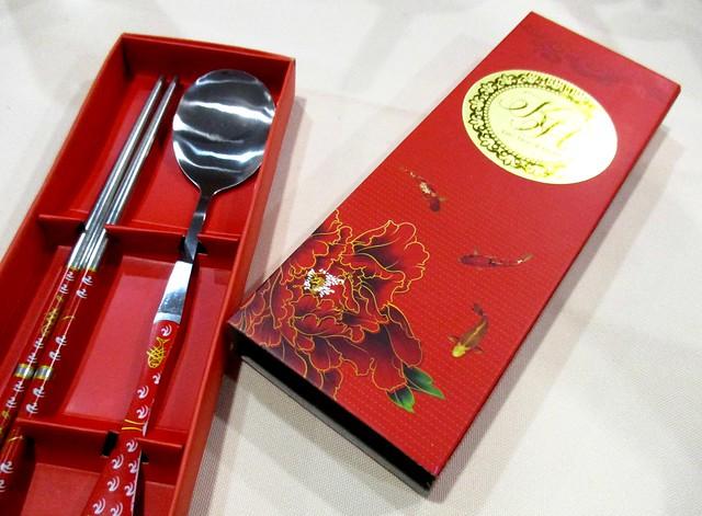 Kho Peng & Hilda door gift, fork & spoon