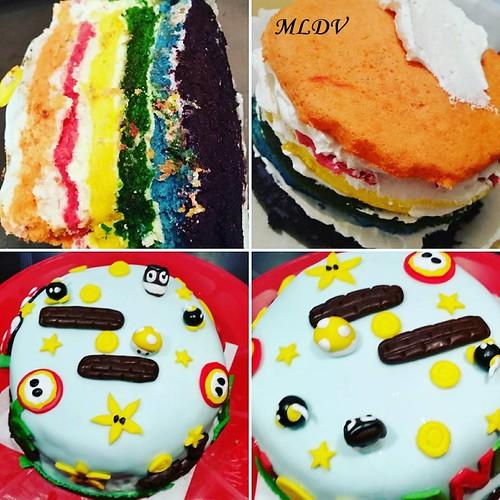 Rainbow cake Mario Bros