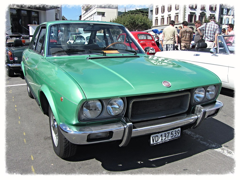 Fiat 124 sport coupe 1800 1975 vevey r tro 2014 daniel v8dub flickr - 1975 fiat 124 sport coupe ...
