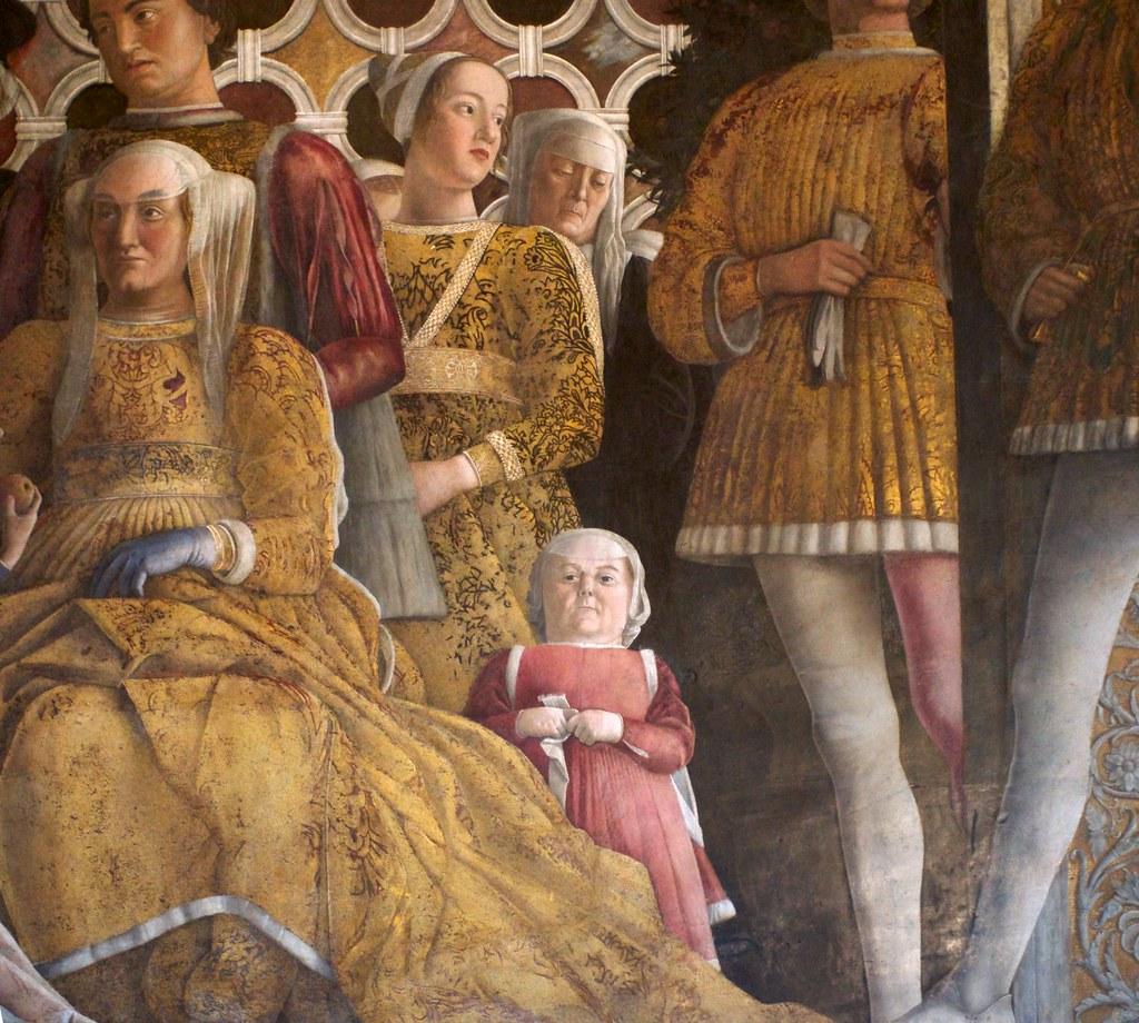 Camera degli sposi nana di corte andrea mantegna for Mantegna camera degli sposi palazzo ducale