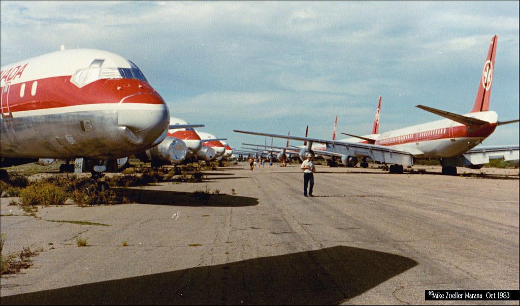 Mothballed Air Canada Dc 8s Mike Zoeller Marana Ari