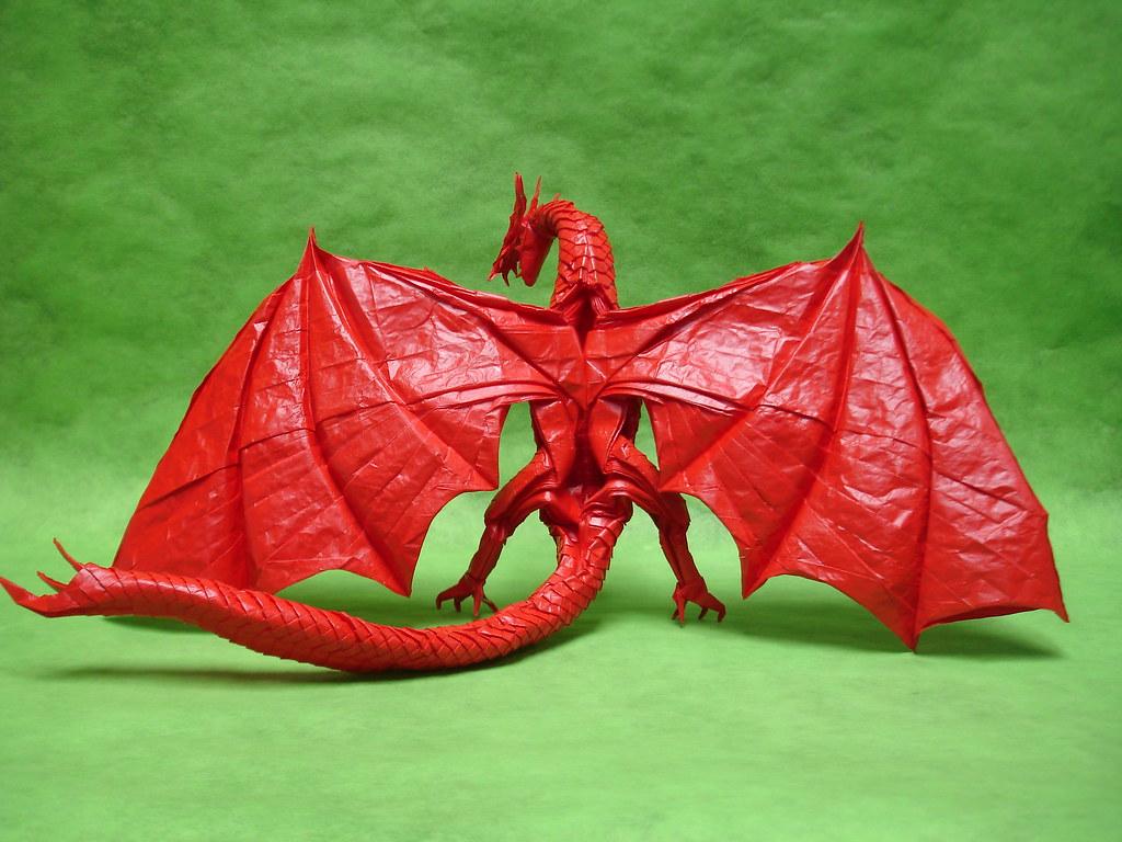 Zoanoid dragon 2014 | Designed by: Shuki Kato Folded from ...