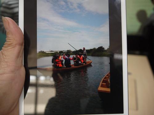 梅陳素美表示利澤地區景色優美,還有可愛的鴨母船可遊憩