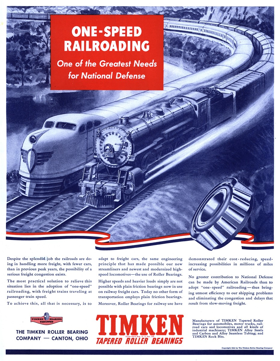 Timken Roller Bearing Company - published in The Saturday Evening Post - December 27, 1941