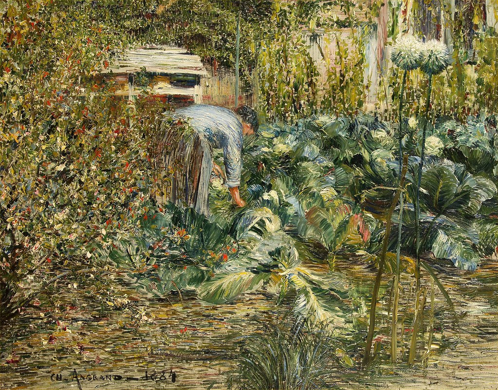 charles angrand in the garden 1884 charles angrand cr flickr. Black Bedroom Furniture Sets. Home Design Ideas