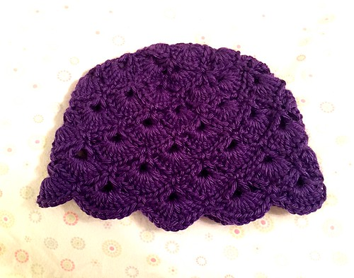 Purple Peacock Hat 9-12 months | Crochet