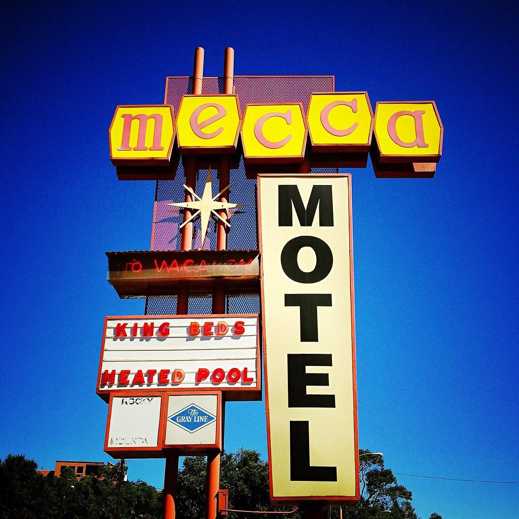 mecca indeed great 1950s vintage motel sign in colorado s flickr. Black Bedroom Furniture Sets. Home Design Ideas