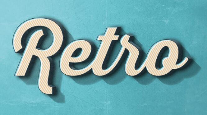 efecto-retro-tipografia