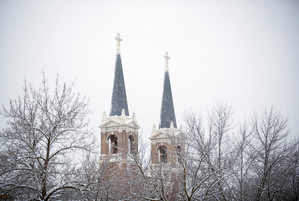Snow blankets the Gonzaga campus. | Wishing everyone a New ...