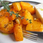 Roast squash with garlic and thyme