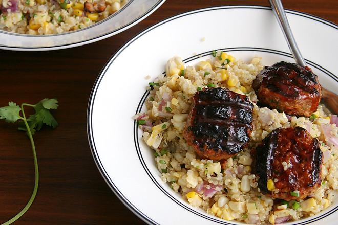 bbq meatballs quinoa 7