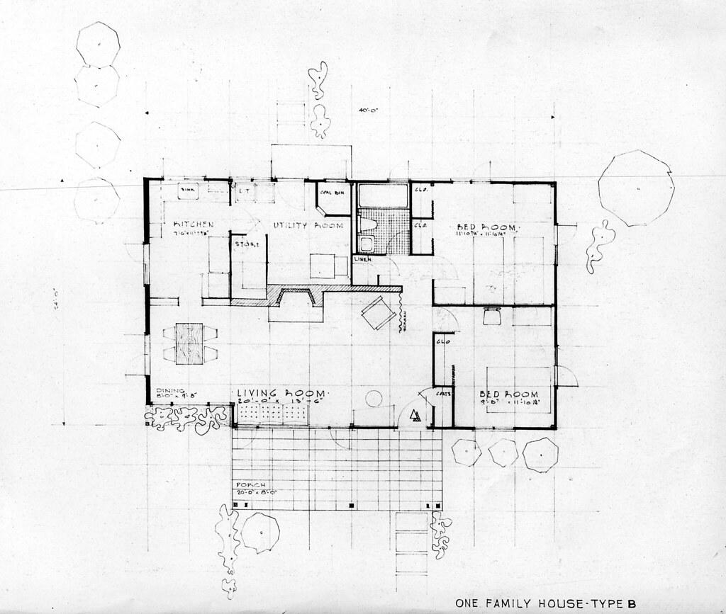 Type b house plans oak ridge 1940s doe oakridge flickr for 1940s house plans