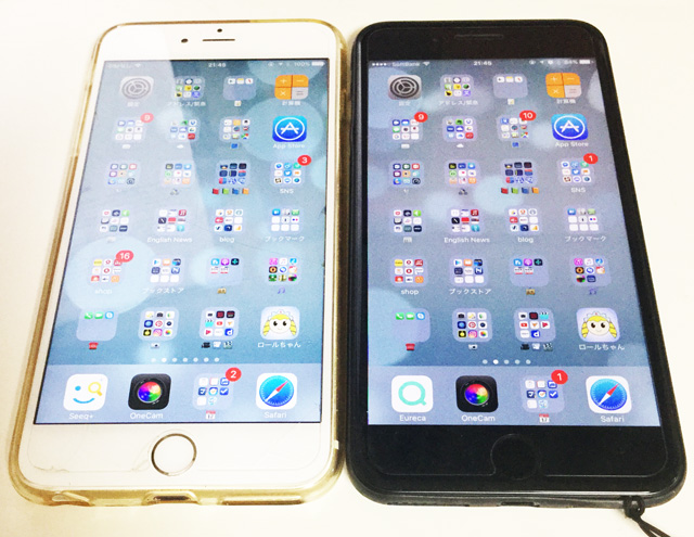iPhone 6s PlusとiPhone 7 Plus