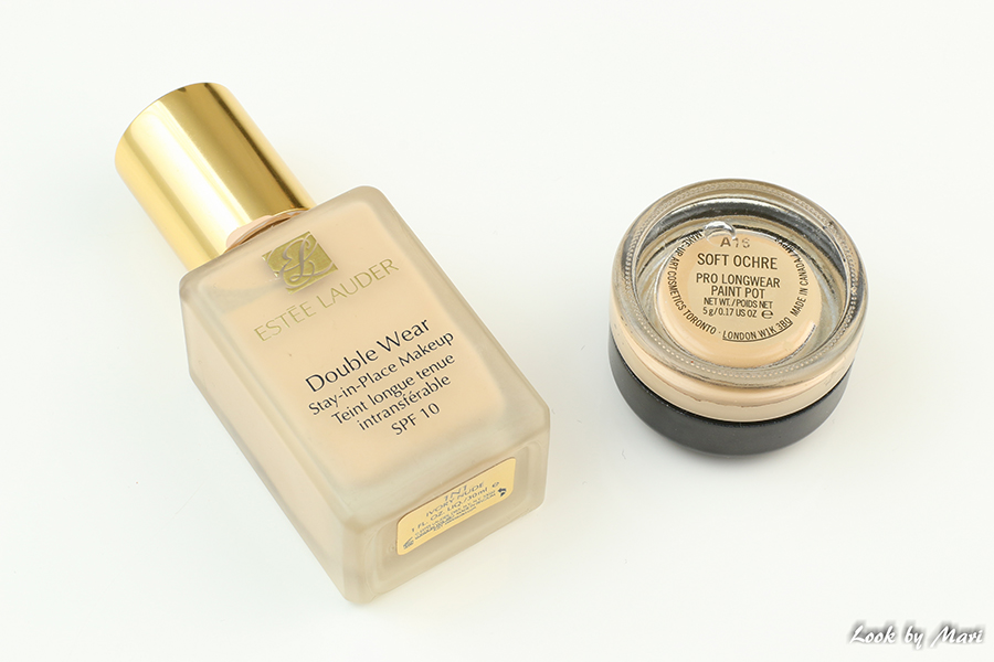 2 estee lauder double wear stay-in-place foundatin mac long wear paint pot soft ochre review kokemuksia