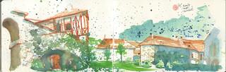 Patrimoine de Bourgogne en peinture - L'Abbaye de Fontenay
