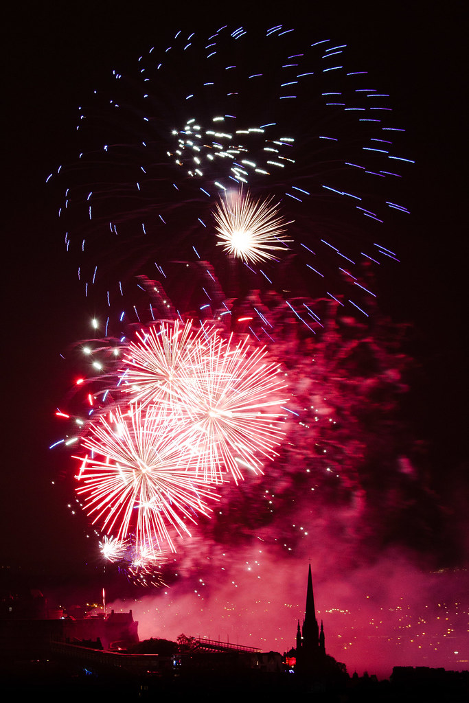 End Edinburgh Festival Fireworks End of Edinburgh Festival