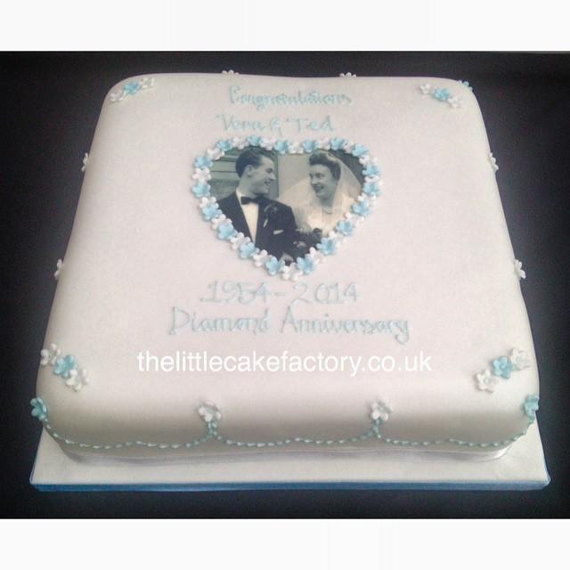 Diamond Anniversary Cake Images : 60th Diamond Anniversary Cake #diamond #60 #60th #wedding ...