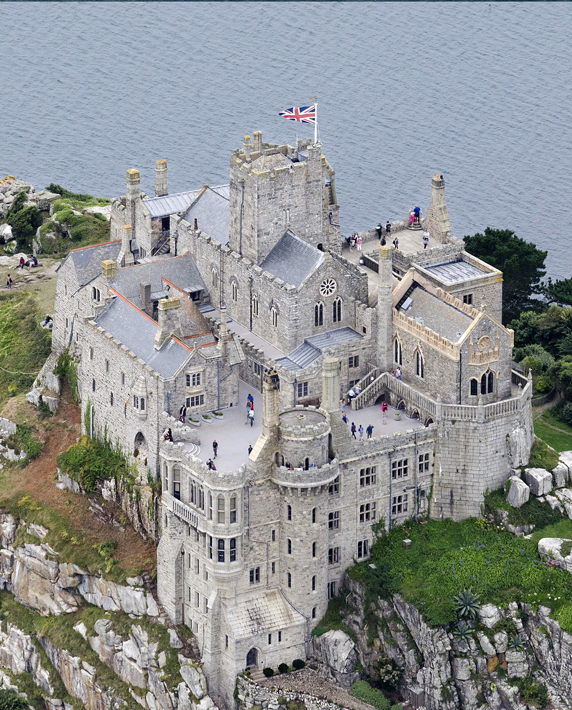 St Michaels Mount In Cornwall Uk Aerial Image St