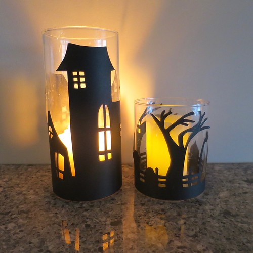Iron Craft '16 Challenge 21  - Spooky Papercut Candle Covers