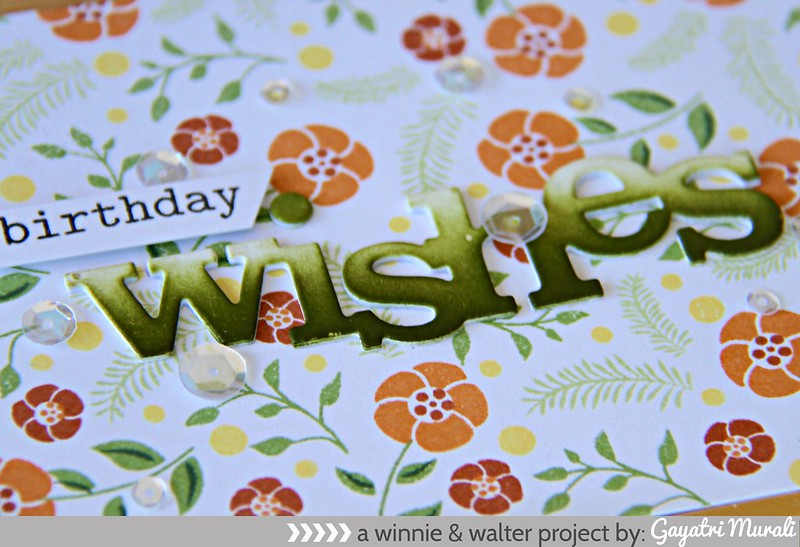 Birthday wishes closeup