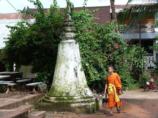 Monje budista en un monasterio