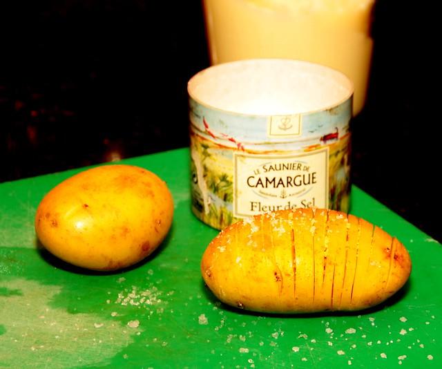 geroosterde aardappel, voorbereiding