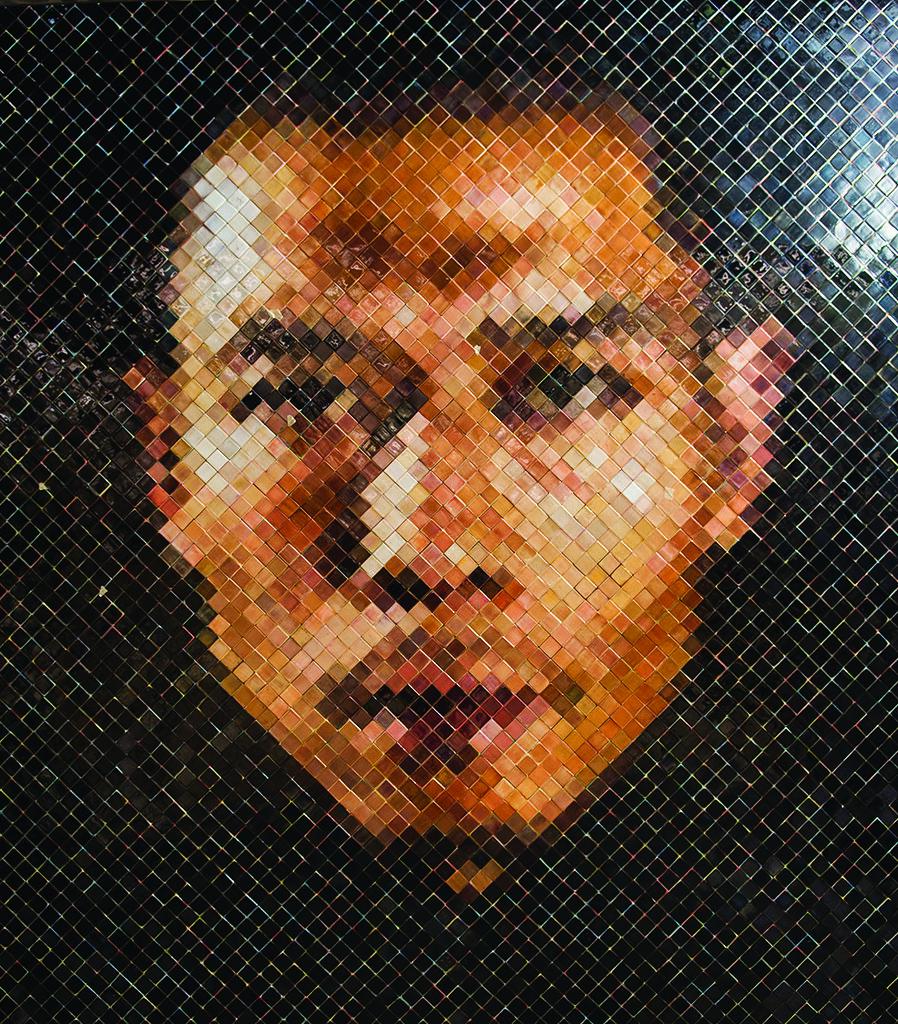 86thstreet Chuck Close Subway Portraits Ceramic Tile