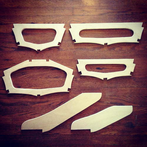 "Frames for Dave Gentry's ""Kidyak"" skin-on-frame kayak design."