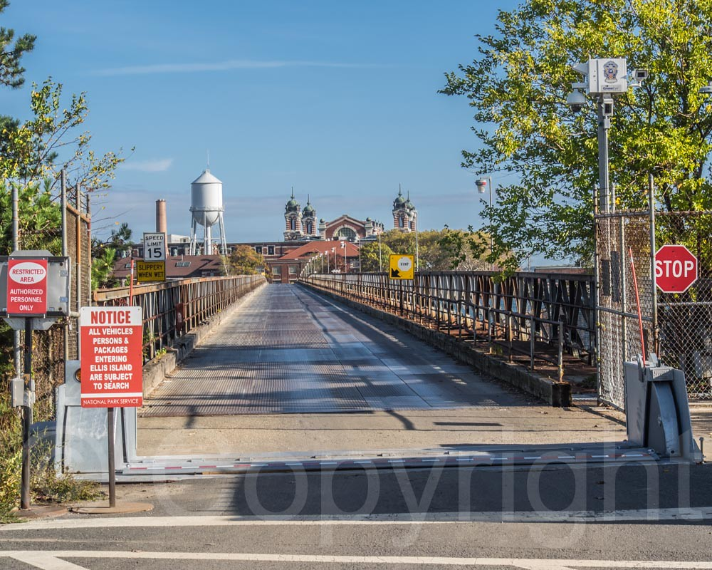 Ellis Island Bridge New York New Jersey Location