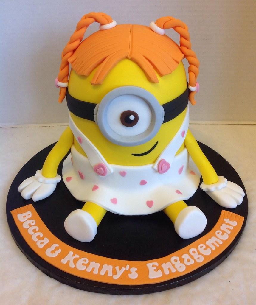 girl minion cakes