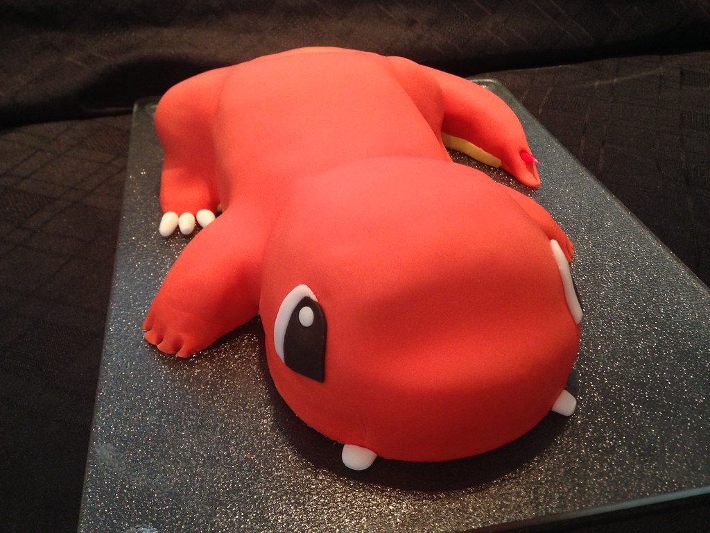 how to make a 3d charmander cake