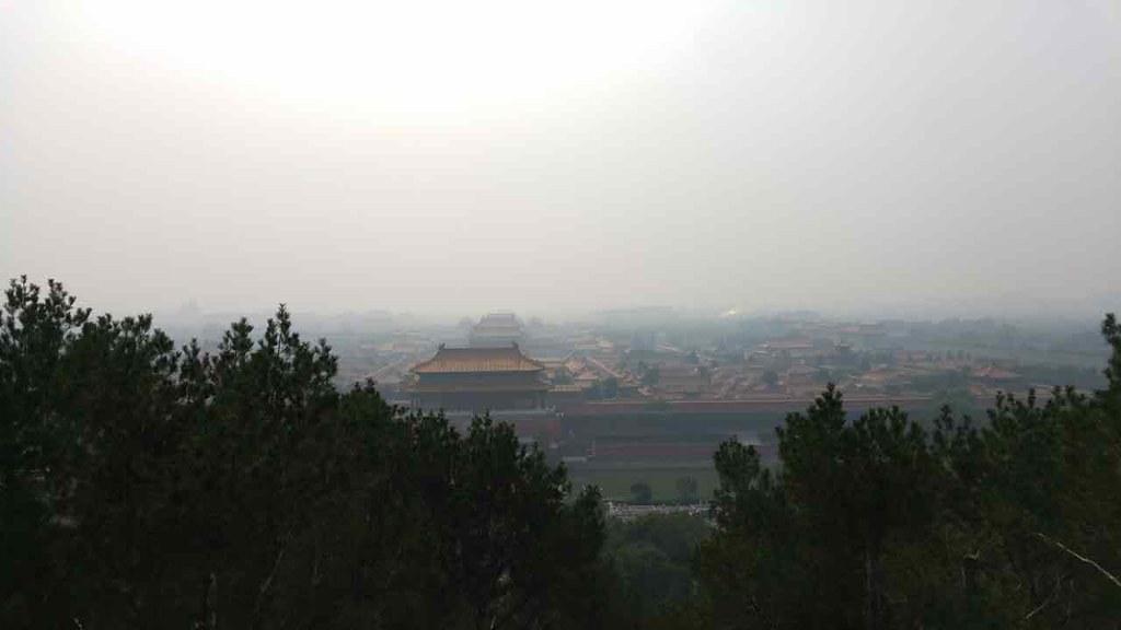 霧霾下的北京 攝影:劉欣恆