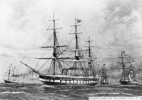 I lived on a street named HMS Galatea visited in 1867.