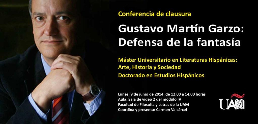 Gustavo Martín Garzo, Defensa de la fantasía, Máster en Literaturas Hispánicas UAM