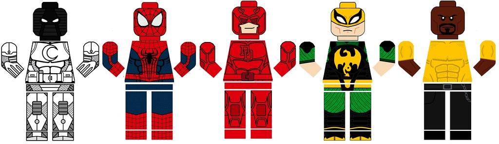Spiderman luke cage iron fist