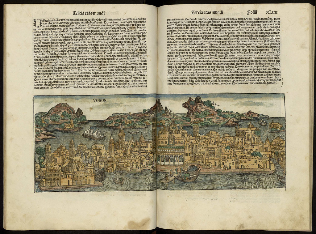Map of Venice from the Liber chronicarum