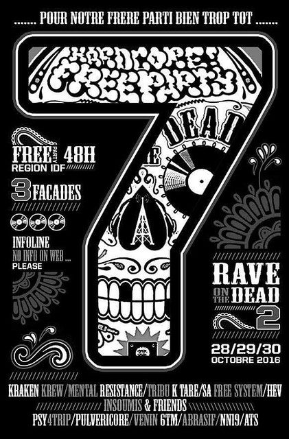 rave on the dead 2 flyer