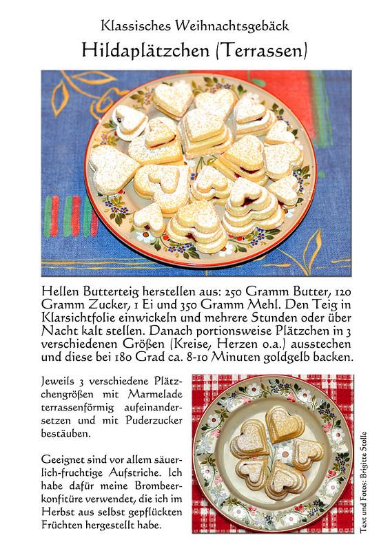 Weihnachtsgebäck klassisch traditionell Hildabrötchen Hildaplätzchen Buttergebäck Terrassen Hilda von Nassau Baden badische Spezialität ... Text und Fotos: Brigitte Stolle 2016